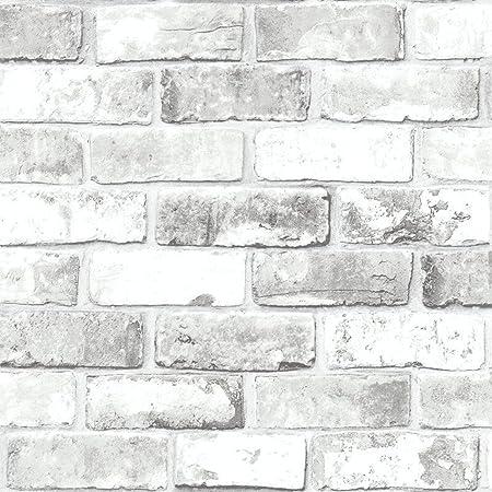 debona brick pattern wallpaper modern metallic motif faux effect