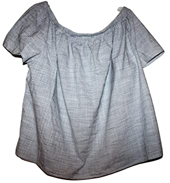 f73c640db3761 GAP Women s 100% Cotton Off The Shoulder Peasant Blouse Top at Amazon  Women s Clothing store