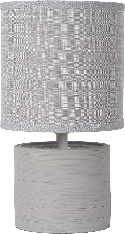 cer/ámica /L/ámpara de mesa/ crema /gris Lucide greasby/ /Di/ámetro 14/cm/ E14 40 wattsW 230 voltsV