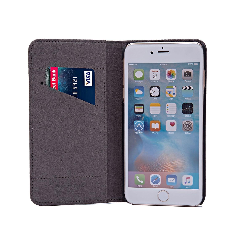 32nd Classic Series - Funda Tipo Libro de Piel Real para Apple iPhone 7 & Apple iPhone 8, Carcasa de Cuero Premium diseñada con Cartera, Cierre Magnetico y ...