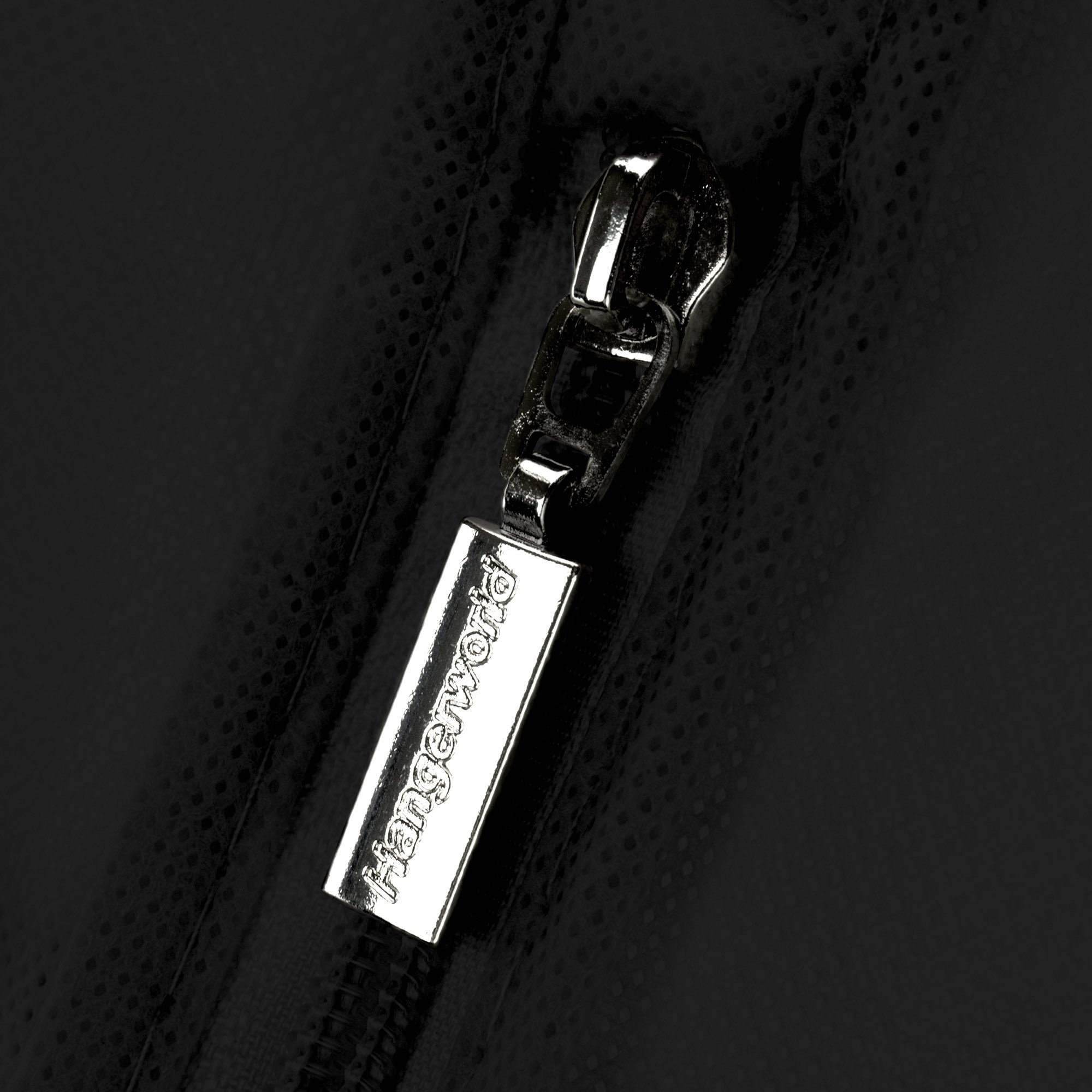 Hangerworld Black Breathable 60 inch Suit Garment Bag - Extra Long cover for Dresses and Gowns, Featuring a Secret Internal Zipped Pocket for safe storage. by HANGERWORLD (Image #4)