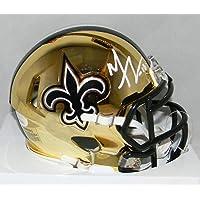$288 » Michael Thomas Signed Mini Helmet - Chrome - JSA Certified - Autographed NFL Mini Helmets
