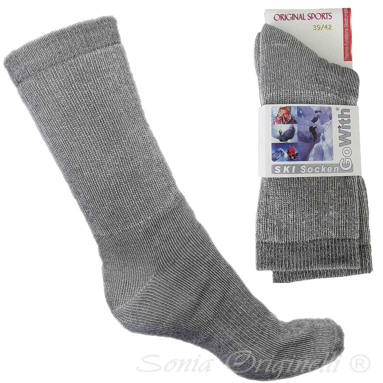 Sonia Originelli 1 Paar Ski Socken Wolle Socke Strümpfe Winter weich gemustert Herren SOCKE35