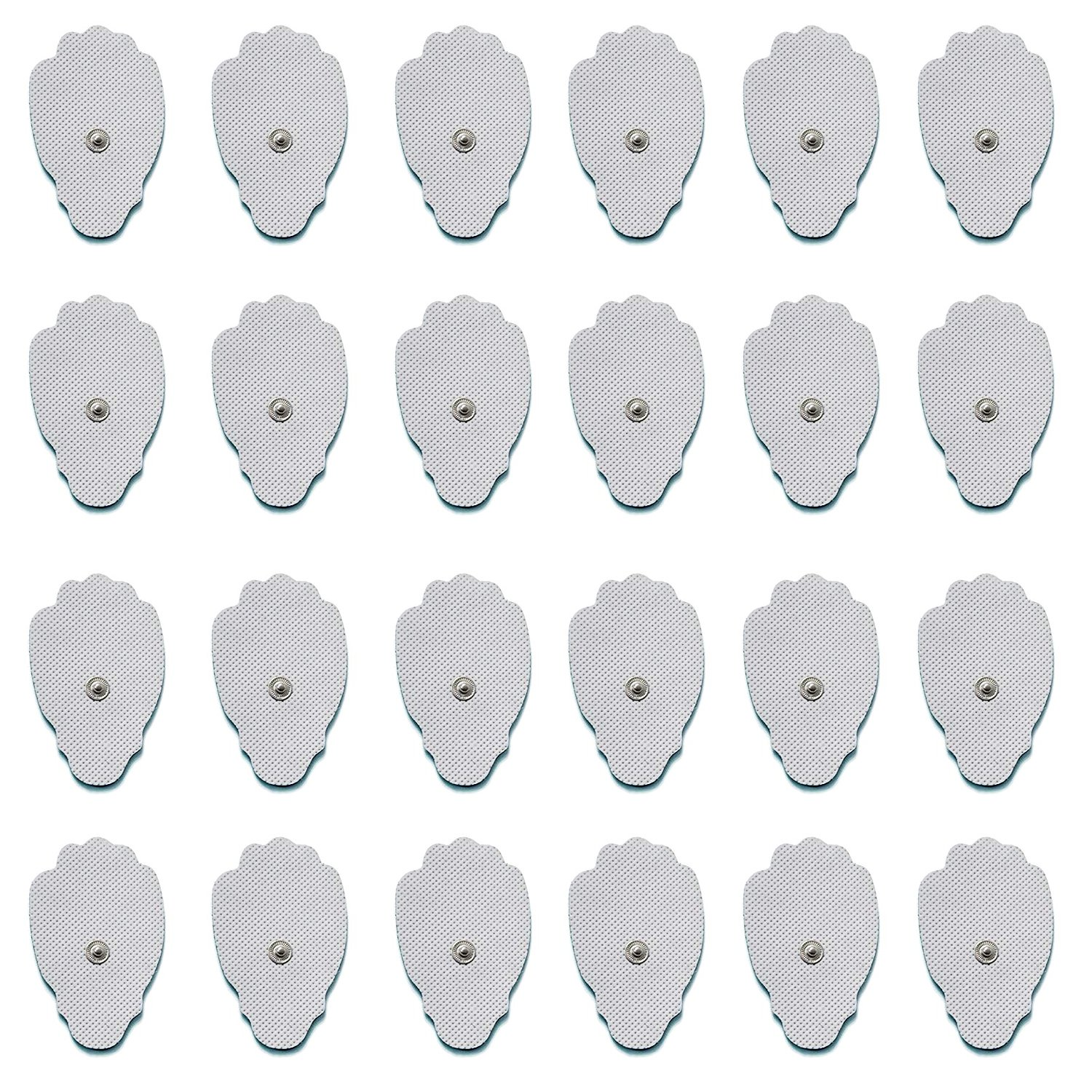 TENS Unit Electrodes, 24-Pack(12 Pairs) Hand Shape Electrode Pads Large Premium for TENS Therapy - Universally Compatible with Most TENS Machine Models - Reusable up to 30 Times -FDA Cleared