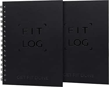 Cossac Fitness Journal & Workout Planner - Designed by Experts Gym Notebook, Workout Tracker,Exercise Log Book for Men Women