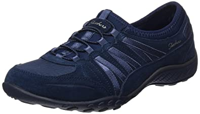 Skechers Womens Relaxed Fit Breathe Easy  Moneybags Sneaker Navy Size 5