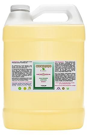 Sweet Almond Oil – Face Skin Hair Cold Pressed 1 gallon Natural Pure Massage Extra Virgin Unrefined Premium Grade