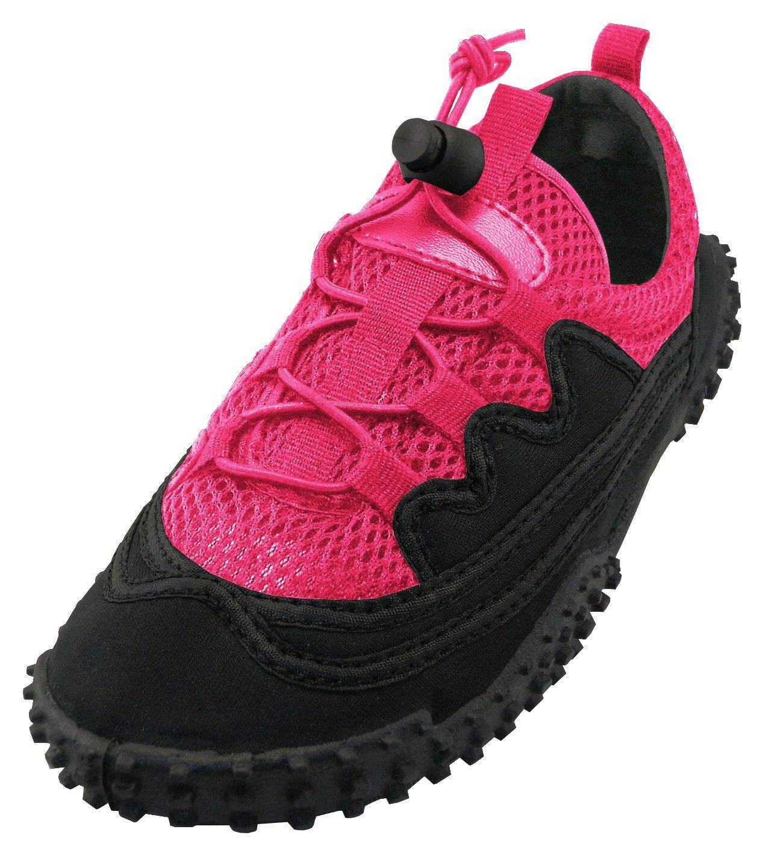 Cambridge Select Women's Lace-up Closed Toe Stretch Elastic Closed Toe Mesh Quick Dry Non-Slip Water Shoe B07B59FG2N 9 B(M) US|Fuchsia