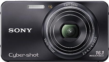 Sony Dsc W570b Digitalkamera 2 7 Zoll Schwarz Kamera