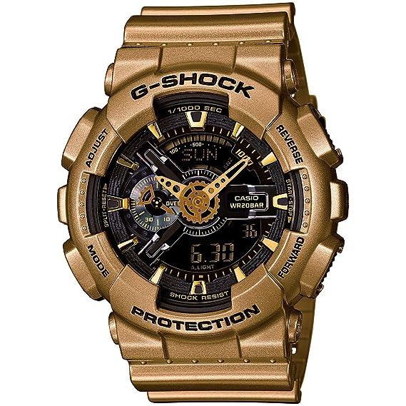 Casio G-Shock - Reloj Negro Dial Dorado Resina Multi cuarzo hombres del reloj ga110gd-9b: G-SHOCK: Amazon.es: Relojes