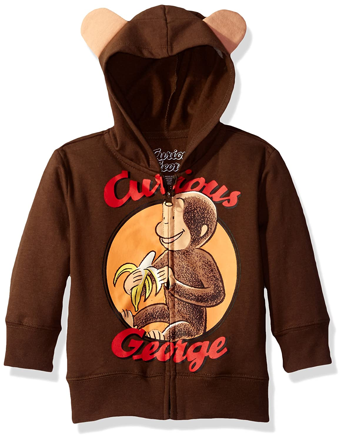 Curious George boys Toddler Boys Character Hoodie Freeze Children's Apparel JRSB251-5U86