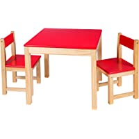 ALEX Toys Art Wooden Table and Chair Set, Red