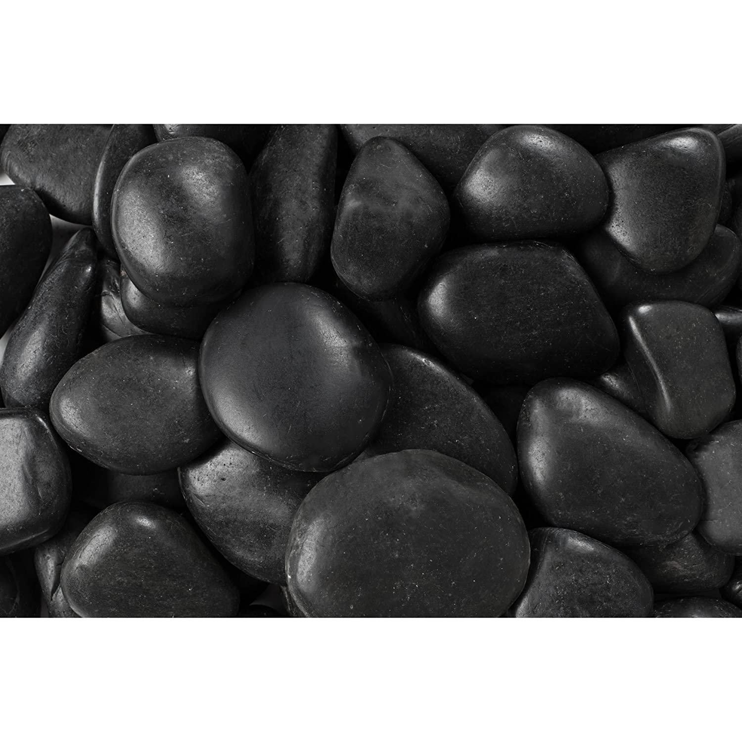 Rainforest RFBRPA3-20 Decorative Pebbles, 20 lb Grade A Black