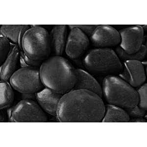 Rainforest RFBRPA3-20 Decorative Pebbles, 20 lb Grade A Black