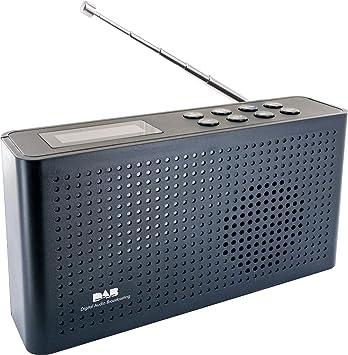 SCHWAIGER -716467- Radio Digital Dab/Dab+ | Portable | con Antena de Varilla y Salida de Auriculares | recepción FM & Dab | operación a través de ...