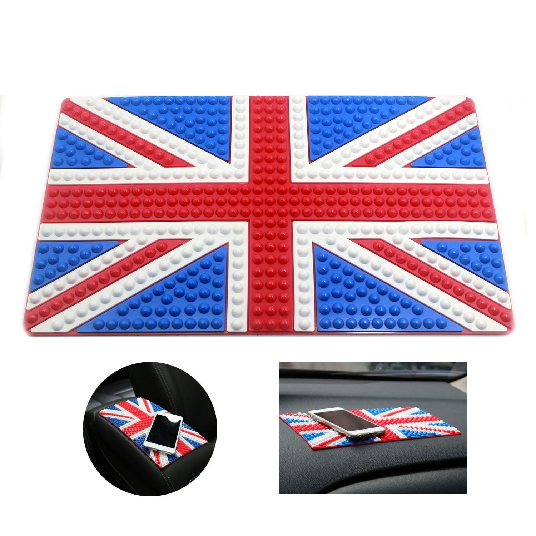 Betan Car Mat, Non-Slip PREMIUM Anti-Slip Mat Dashboard Pad - Holds Mobile Phone, Sunglasses, Keys and more (American flag)