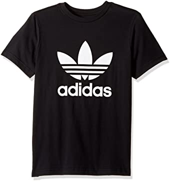 pretty nice 2b276 09ba3 adidas Originals Tops Big Boys  Kids Trefoil Tee, Black White, X-