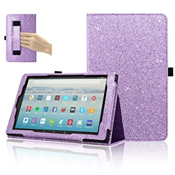 huge selection of 19165 b76d7 Fire HD 10 Tablet Case (7th Generation, 2017 Release), ACdream Premium PU  Folio Leather Tablet Case for All-New Amazon Fire HD 10 Tablet with Auto ...