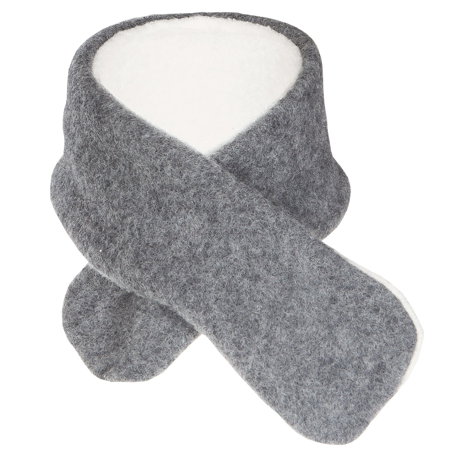 Kids Winter Neck Scarf: Organic Merino Wool and Cotton Sherpa, Size 1 to 6 years Size 1 to 6 years (Berry) Reiff 200410-WOOL-COTTON-HAT-KIDS