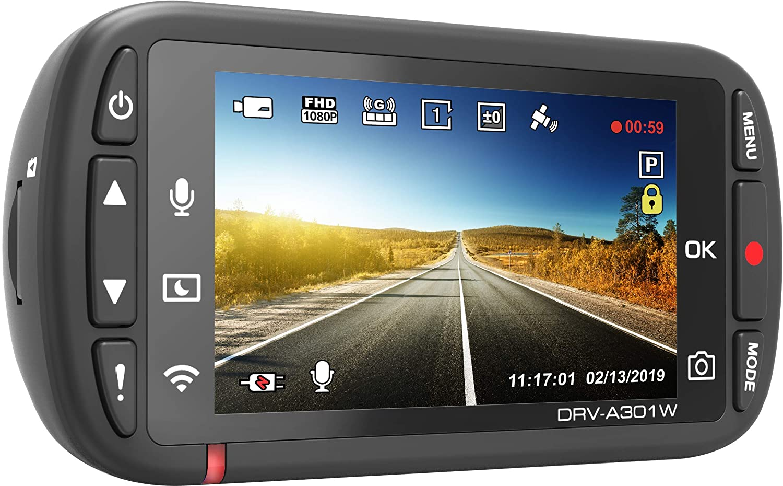 Kenwood DRV-A301W Full HD DVR Dash Camera Recorder w//GPS G-Sensor 2.7 Screen