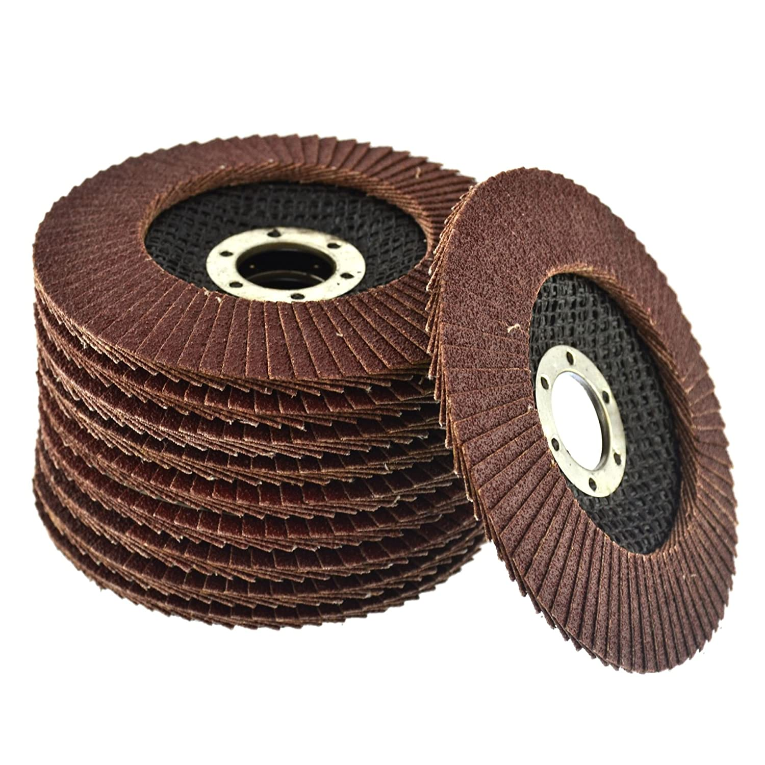 20 x Flap Discs 80 Grit Angle Grinder 4.5' (115mm) Flat Sanding Grinding AU014 AB Tools