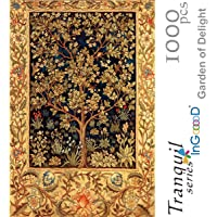 Ingooood- Jigsaw Puzzles 1000 Pieces for Adult- Tranquil Series- Garden of Delight_IG-0363 Entertainment Wooden Puzzles Toys