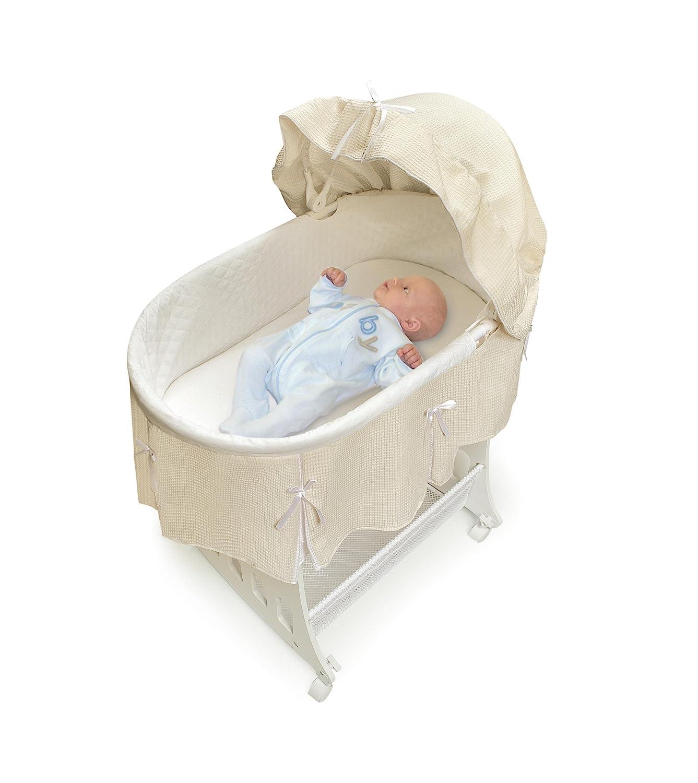 Amazon.com : Badger Basket Portable Bassinet N Cradle With Toybox Base,  Ecru : Baby