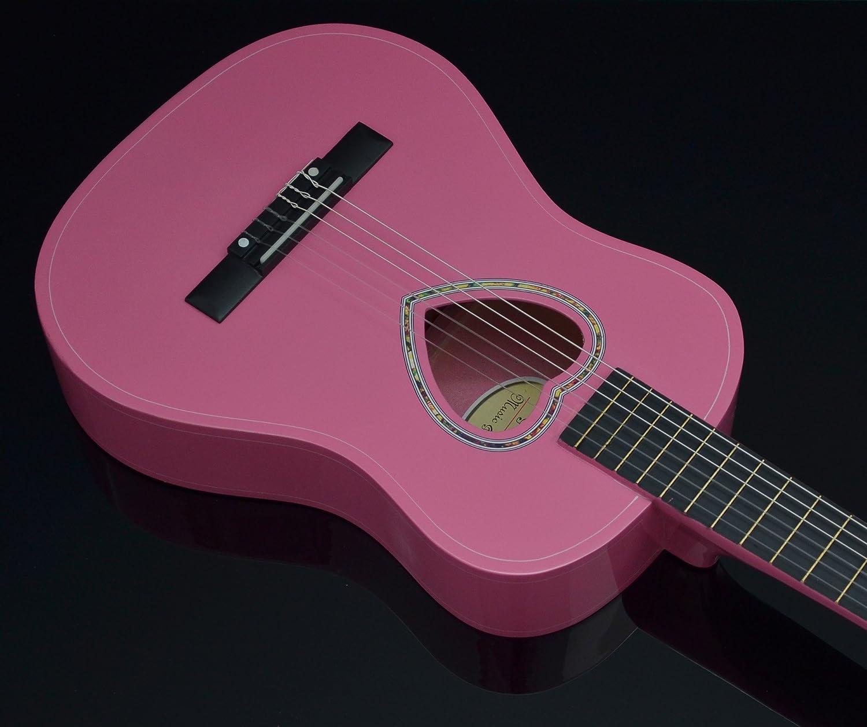 ts-ideen 5260 - Guitarra acústica infantil (tamaño 1/2, pastilla ...