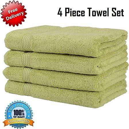 AK Textiles Toalla 100% algodón Egipcio Suave 550 g/m² [Clase ...