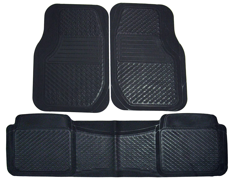 18644 PantsSaver 3 Piece All Weather Car Mat Set Black