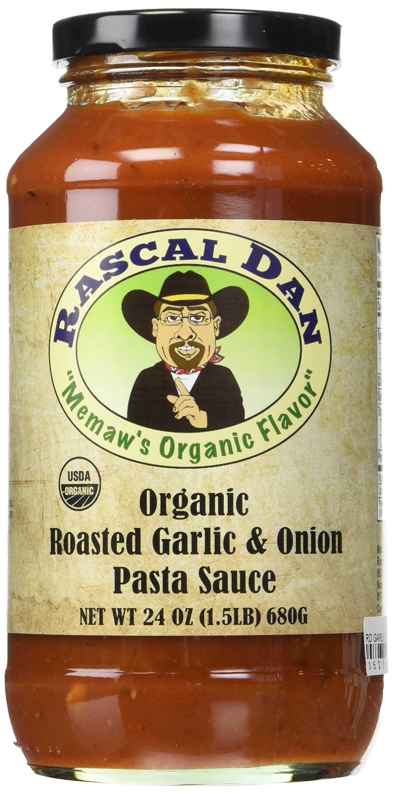 Rascal Dan Organic Food Products Pasta Family Meal with Roasted Garlic and Onion Sauce