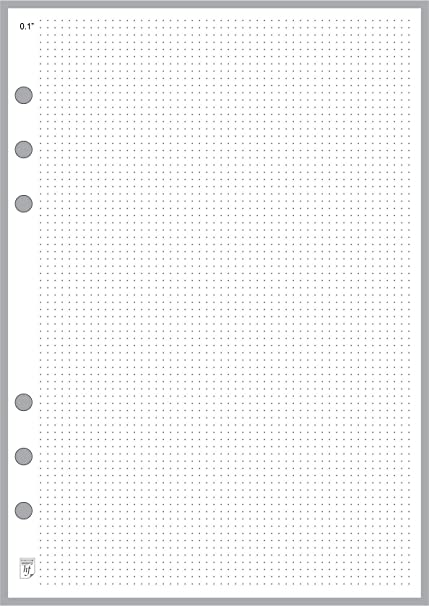 amazon com a5 size dot grid paper refill 0 10 sized and