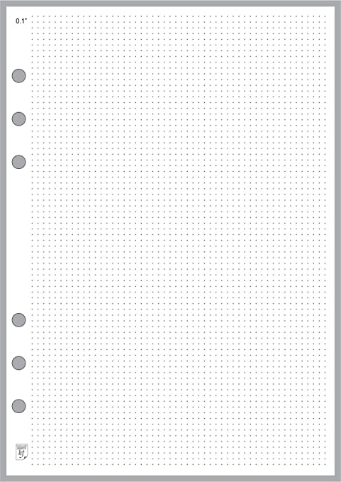 image about Dot Grid Printable referred to as A5 Dimension Dot Grid Paper Refill (0.10\
