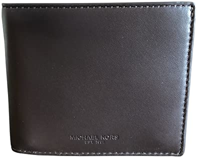 0e30c538f805 Michael Kors Men's ID Protection Slim Billfold Bifold Soft Leather Wallet  Brown: Amazon.co.uk: Shoes & Bags