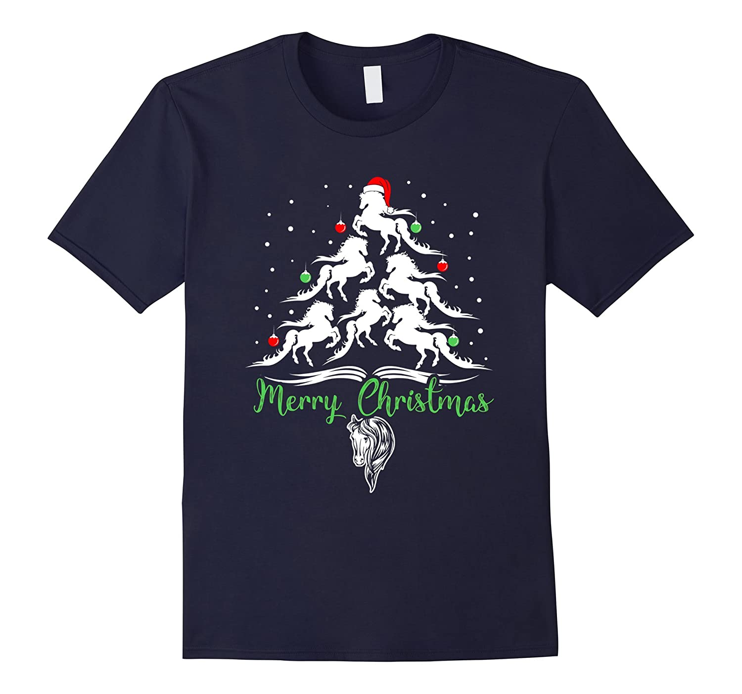 Horse Lovers T Shirt Horse Ugly Christmas Sweater Tee-ANZ