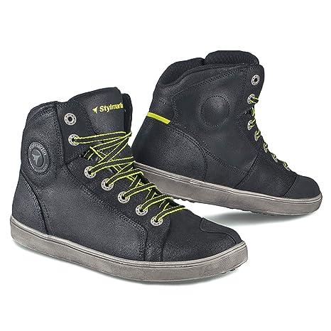 Styl Martin Moto Zapatos Botas Cortas Botas Zapatillas Seattle EVO Negro Talla 44