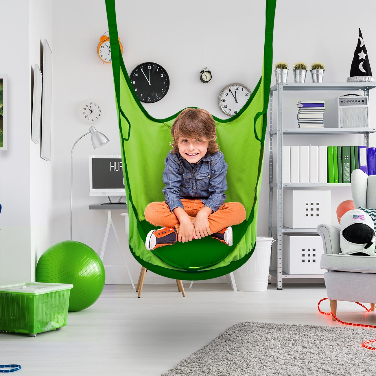 Sorbus Kids Pod Swing Chair