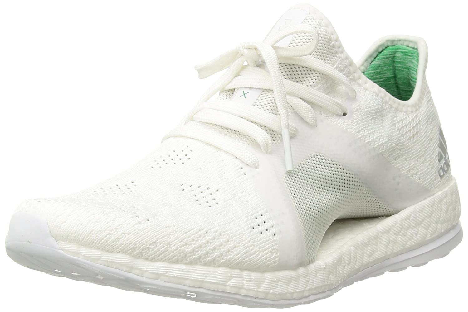 White Grey Two Green Adidas Performance Women's Pureboost X Element Running shoes