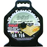 Freud SBOX8 Box Joint Cutter Set, Cuts 1/4-Inch and 3/8-Inch Grooves, One Size, Multi