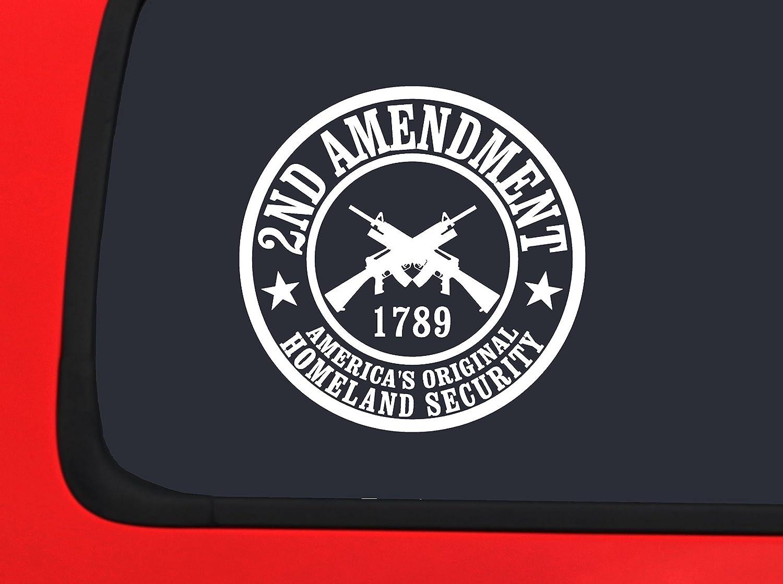 Auto Truck Window Decal Americas Original Homeland Security 2nd Amendment