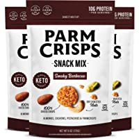 Parm Crisps Snack Mix Smoky BBQ, 6oz (Pack of 3), 100% Cheese Crisps, Almonds, Cashews, and Pistachios, Healthy Cheese…