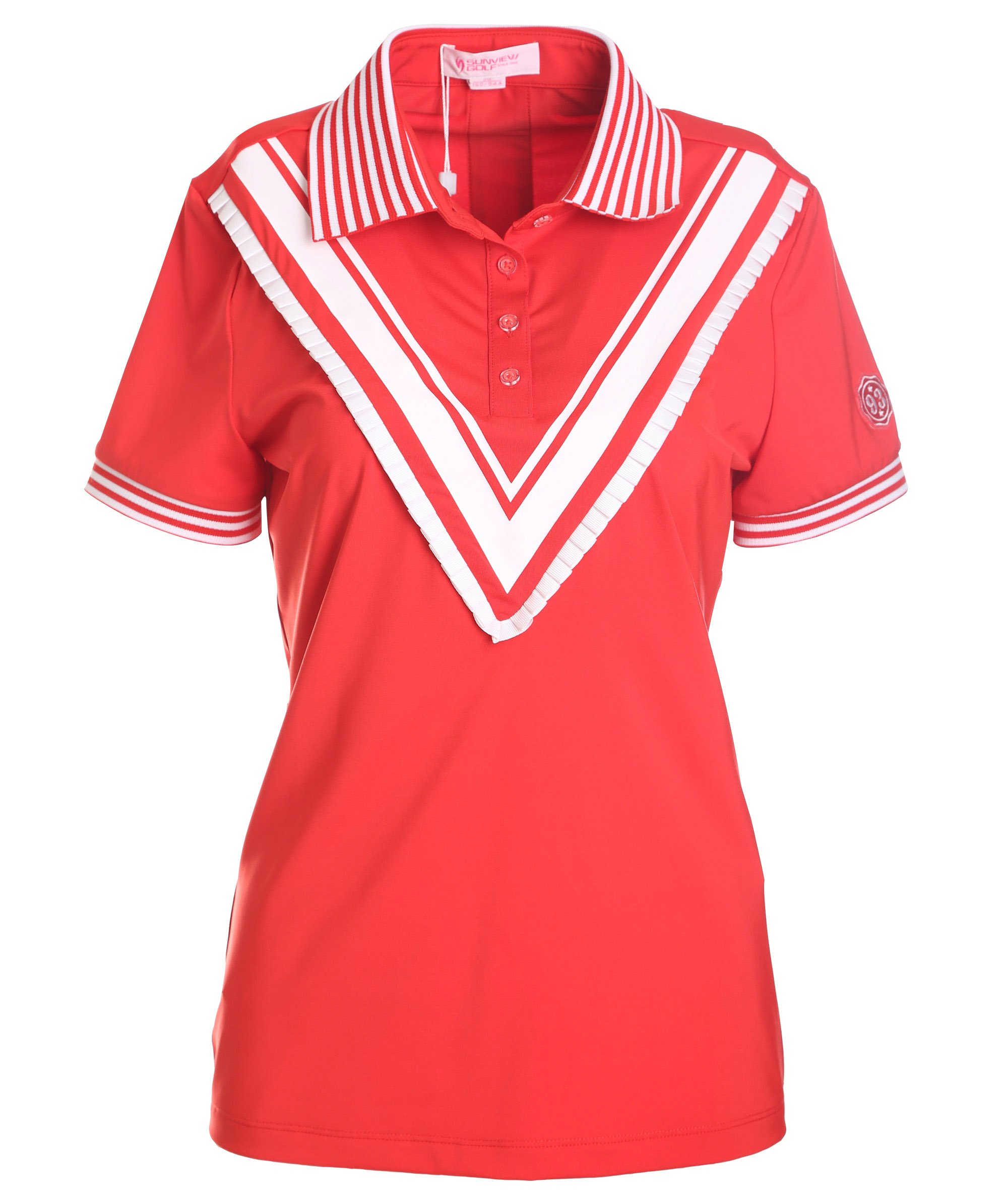 SunviewGolf svg Women's Short Sleeve Polo Shirt Ladies Summer Golf Shirt Top Red XS