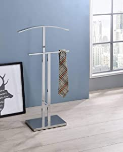 Kings Brand Furniture - Dossi Chrome Finish Metal Suit Rack Valet Stand