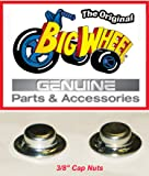 "CAPNUTS for The Original ""Classic"" Big Wheel, Replacement Parts, 1 Pair of Axle Caps/ pushnuts 3/8"" For The Rear Wheels"