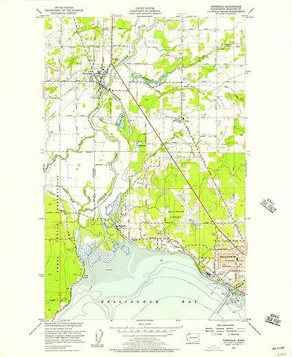 Ferndale Washington Map.Amazon Com Yellowmaps Ferndale Wa Topo Map 1 24000 Scale 7 5 X
