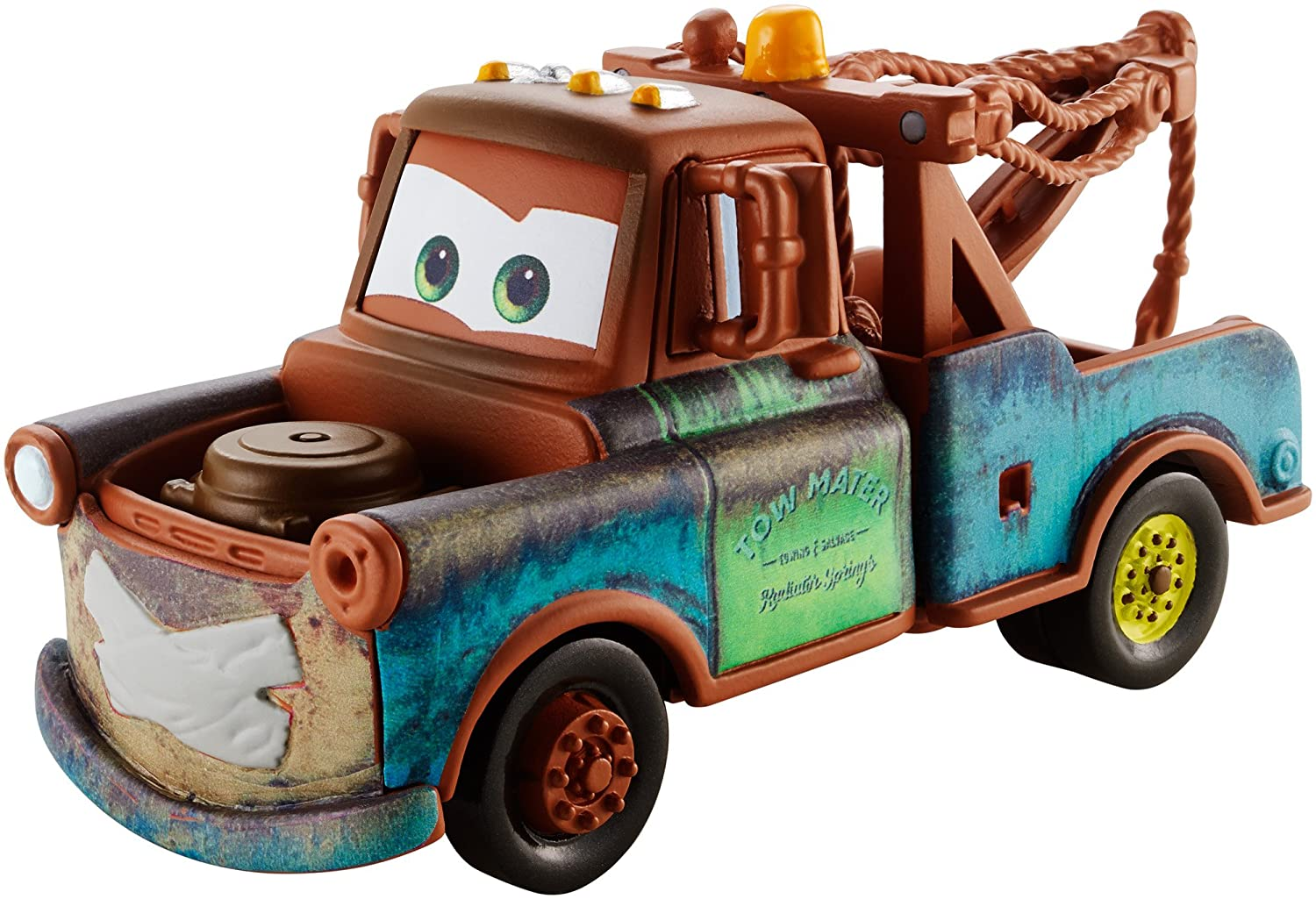 amazon com disney pixar cars super chase mater with duct tape 1 55
