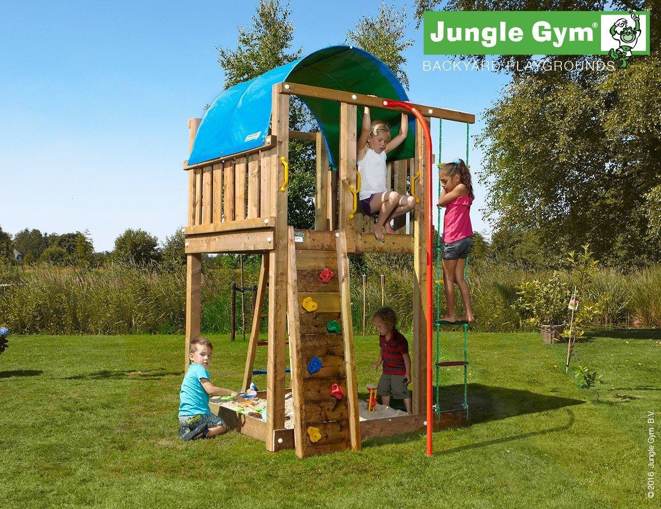 JUNGLE GYM Spielturm Jungle VILLA mit Rutschstange, Gesamtmaße (B/T/H): 170/410/270 cm