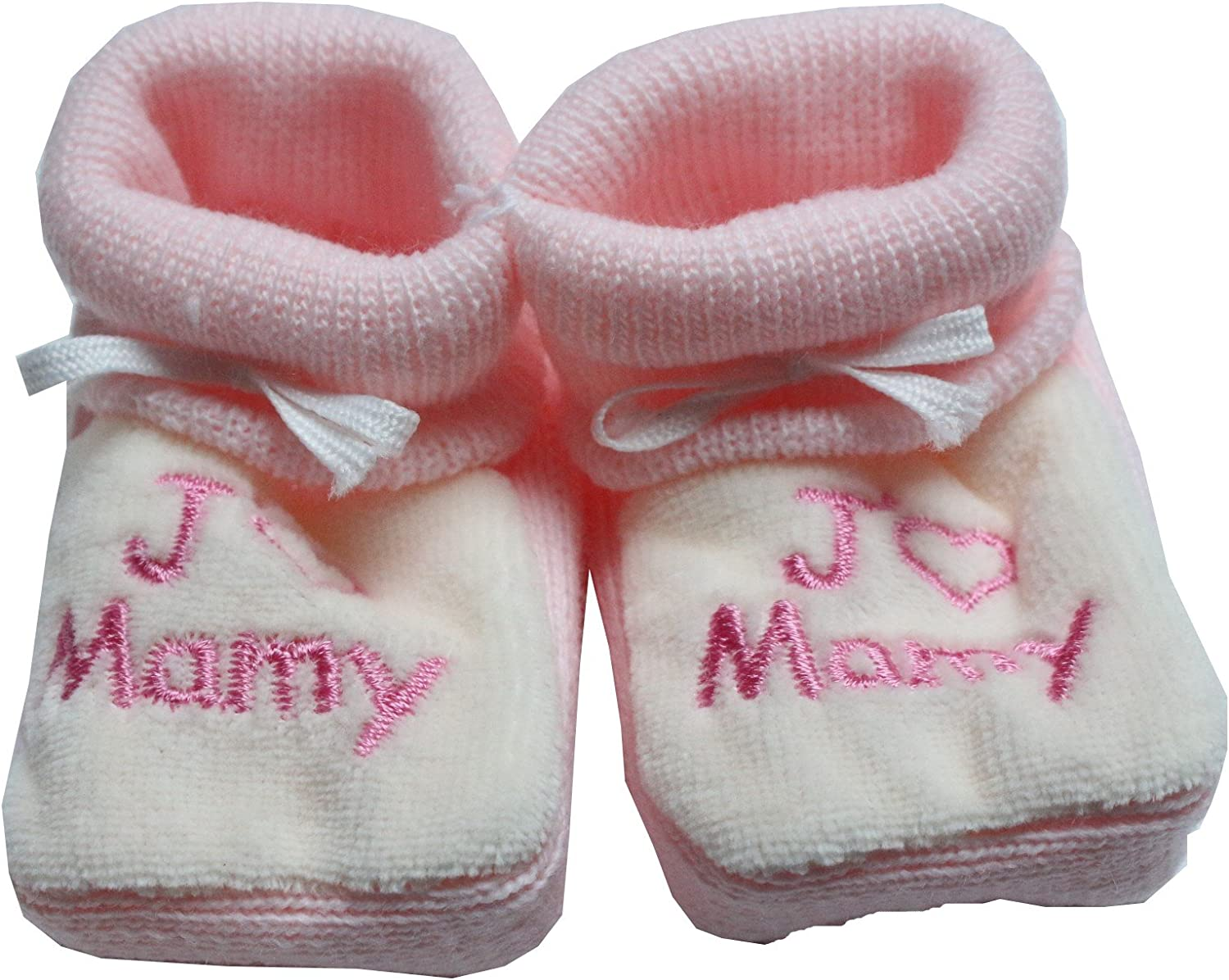 chaussons brode jaime mamy blanc rose