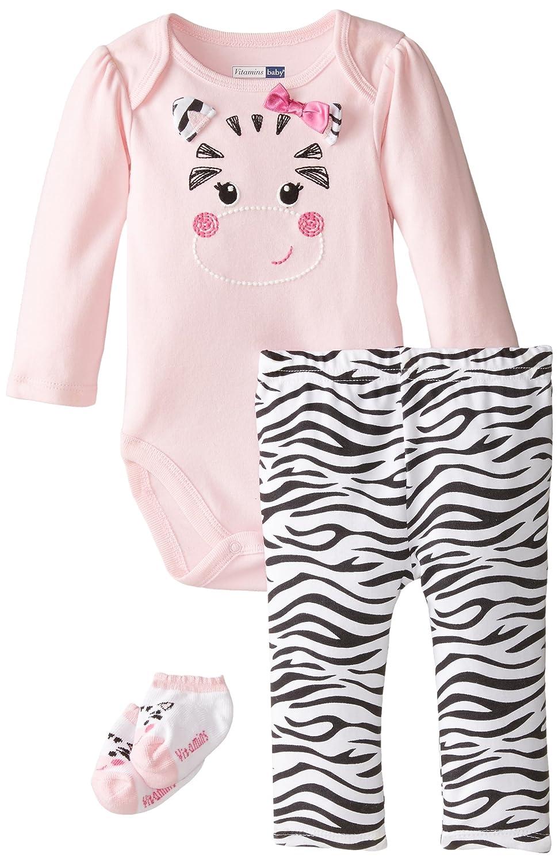 【好評にて期間延長】 ビタミンベビーベビー女の子新生児Zippy Zebra 3 Piece Creeper Pant Set 3 6 Months Piece Creeper ピンク B00WOKMGIS, 夜須町:fca646b1 --- a0267596.xsph.ru