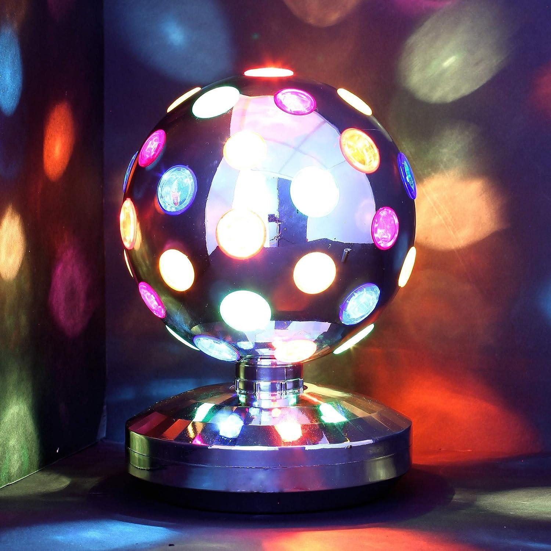 DISCO-LAMPE - bunte Discokugel - dreht sich um 360° - Durchmesser 20 ...